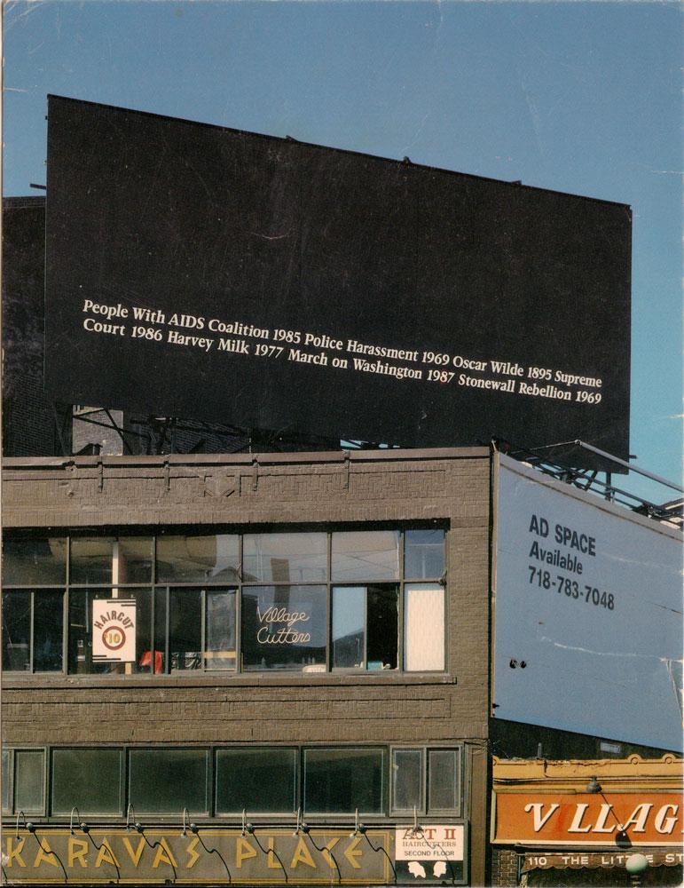Felix Gonzales-Torres  Sheridan Square NYC