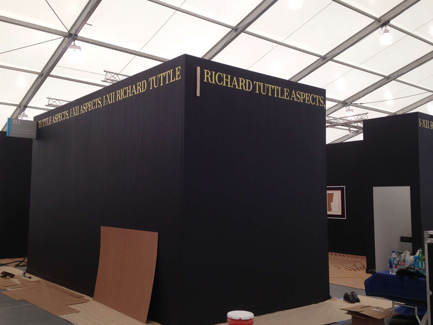 Hand Painted Lettering for Pace Gallery- Richard Tuttle- Frieze Art Fair