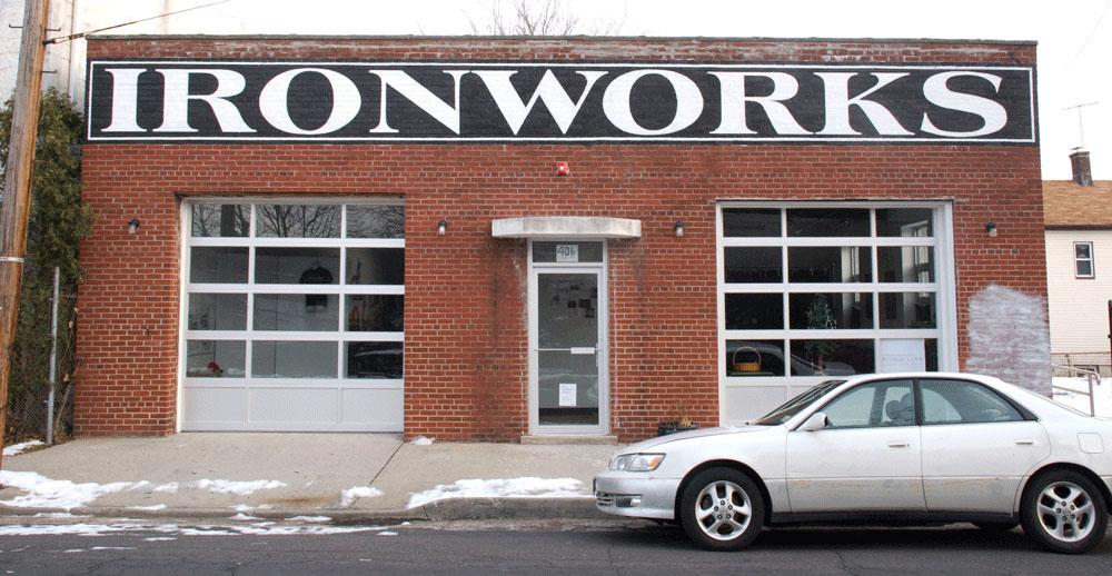 Ironworks Art Center  Old School Painted Sign  Orange NJ