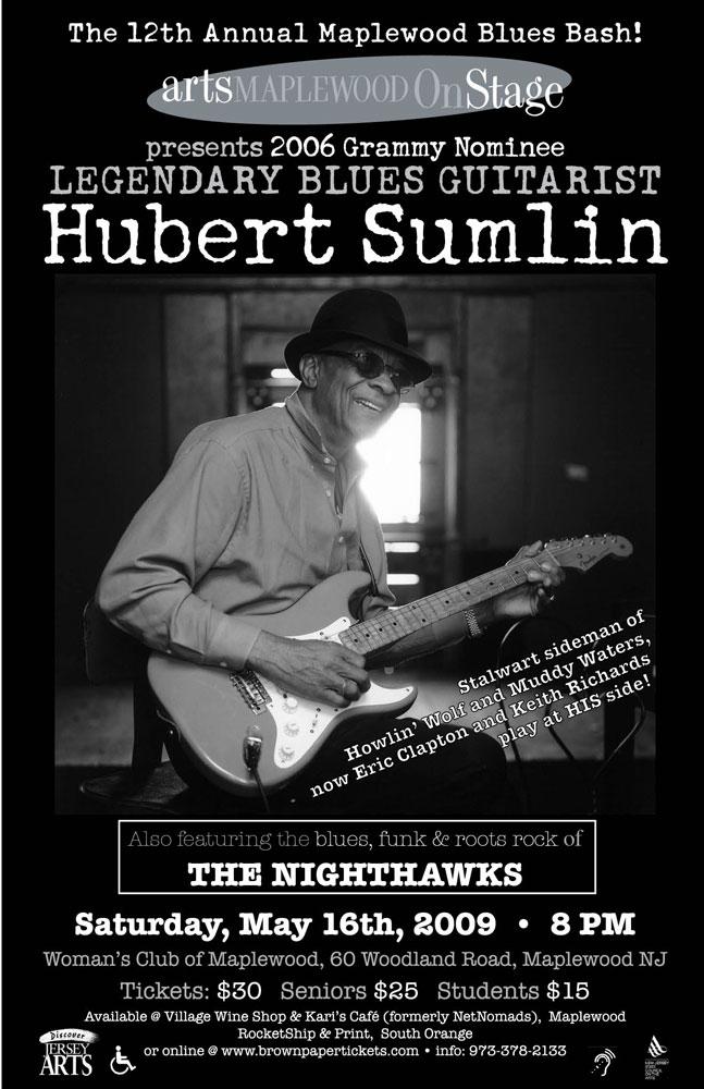 Hubert Sumlin Concert Poster