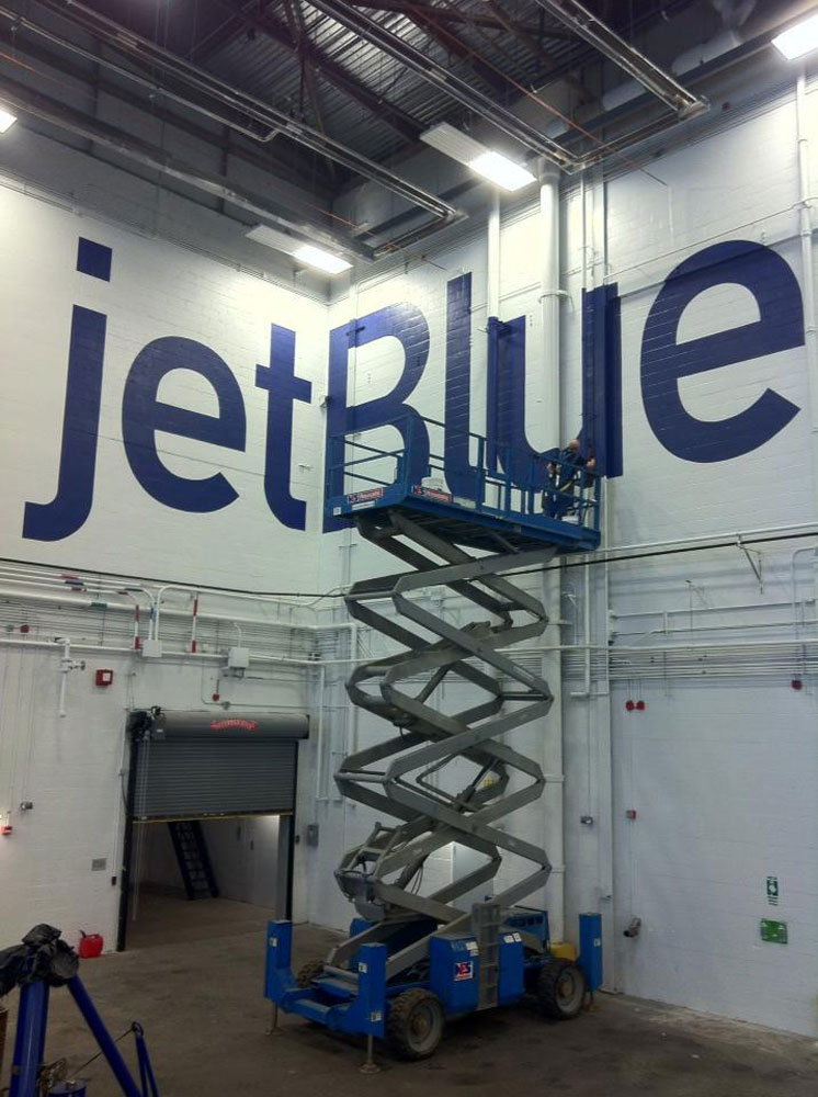 jetBlue 22'Hx75'W  Logan In'l Airport  Boston MA
