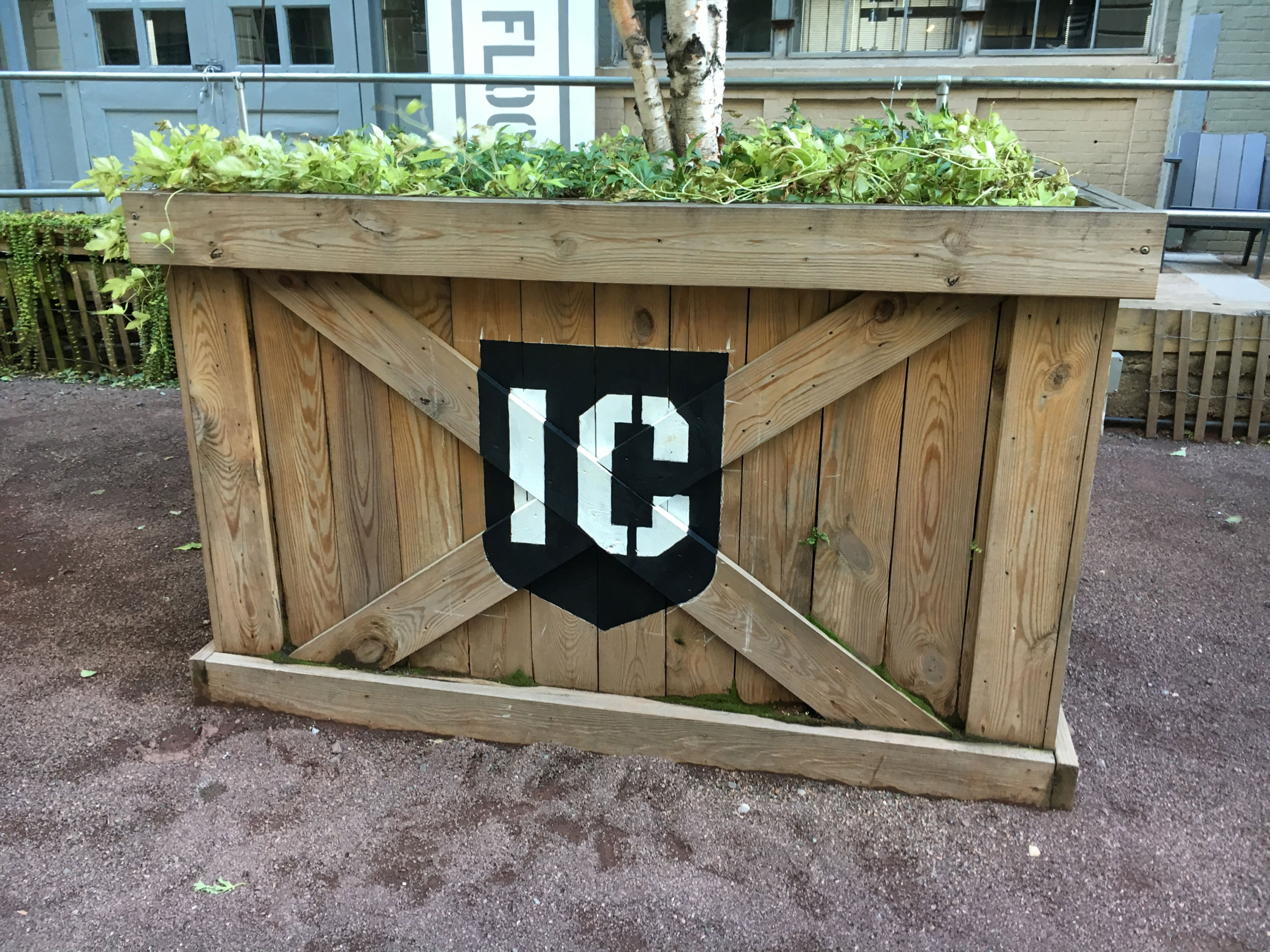 IC Wooden Planter